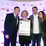 Adrian Cummins of the Restaurants Association, Jane Lamberth, Justin Carty, Leanne Horan