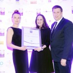 Breffney Di Pizzo of Odaios Foods, Alison Ruane, Adrian Cummins of the Restaurants Association