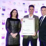Hilary Tubridy of Elavon, Simon O'Hara, Adrian Cummins of the Restaurants Association