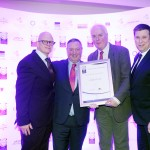 Hugh Murray of Classic Drinks and Massotina, Eanna Hassett, Robert Bowe, Adrian Cummins of the Restaurants Association