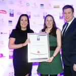 Jane O'Hara of Rewarding Times, Edelle McMahon, Adrian Cummins of the Restaurants Association