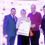 Keith Mahon of TheTaste, Madeline O'Connell and Benny O'Connell, Adrian Cummins of the Restaurants Association
