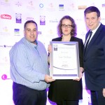 Leo Molloy of Aryzta Food Solutions, SDeirdre O'Connell, Adrian Cummins of the Restaurants Association
