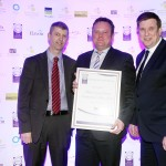 Martin Maguire of La Rousse Foods, Adrian Grealy, Adrian Cummins of the Restaurants Association