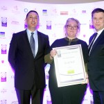 Sylvester Barret of BWG Foodservice, Áine Maguire, Adrian Cummins of the Restaurants Association