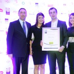 Sylvester Barret of BWG Foodservice, Josie Drury, Cormac Sheehy, Ann Sheehy,  Adrian Cummins of the Restaurants Association