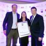 William Tindal of Tindal Wine Merchants, Eimear Killian, Adrian Cummins of the Restaurants Association