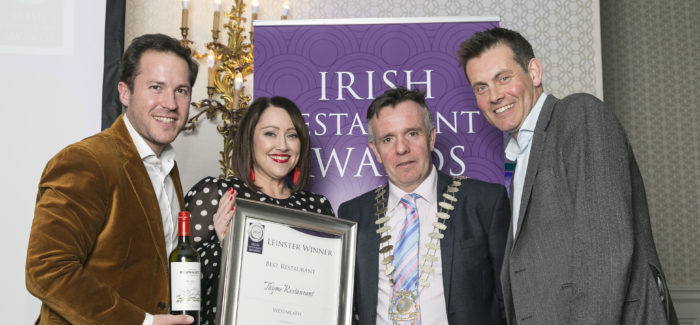 Success for Many Local Restaurants at Leinster Regional Awards!